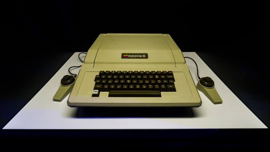 Apple II computer, introduced in 1977