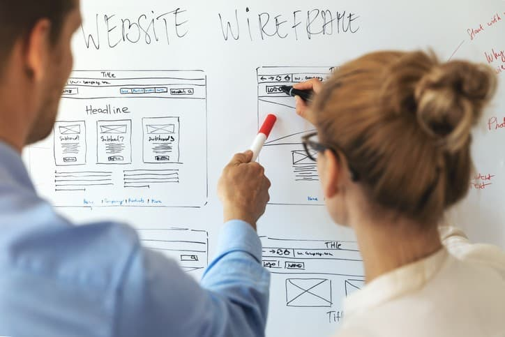 Graphical User Interface wireframe