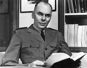 Howard Aiken in his office