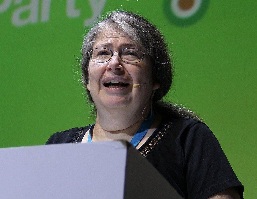 Radia Perlman giving a speech