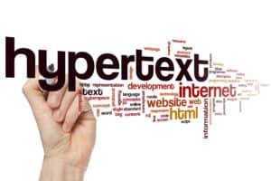 Hypertext word cloud