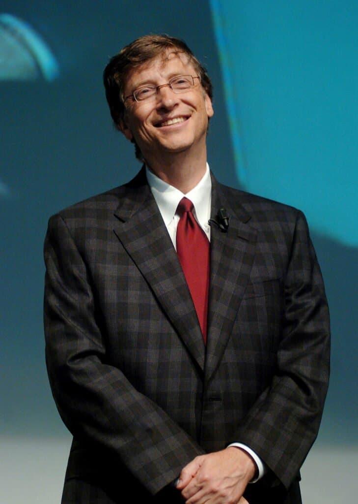 Bill Gates on stage