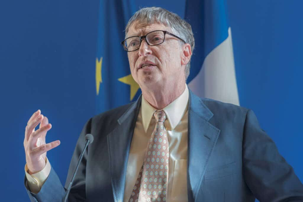 Bill Gates in Paris, France