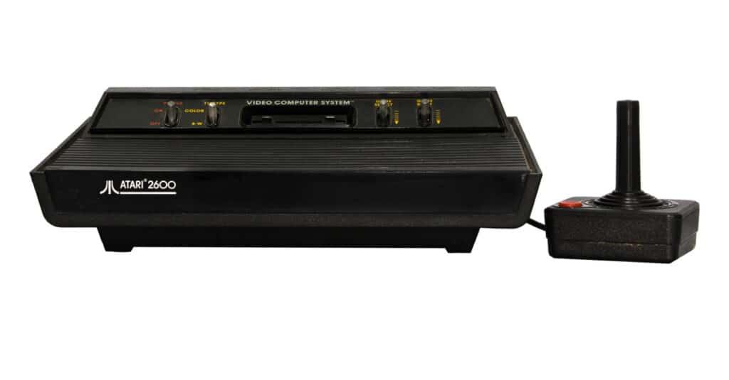 Atari 2600 console with joystick