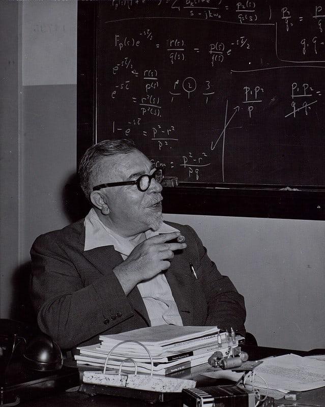 Norbert Wiener in his office