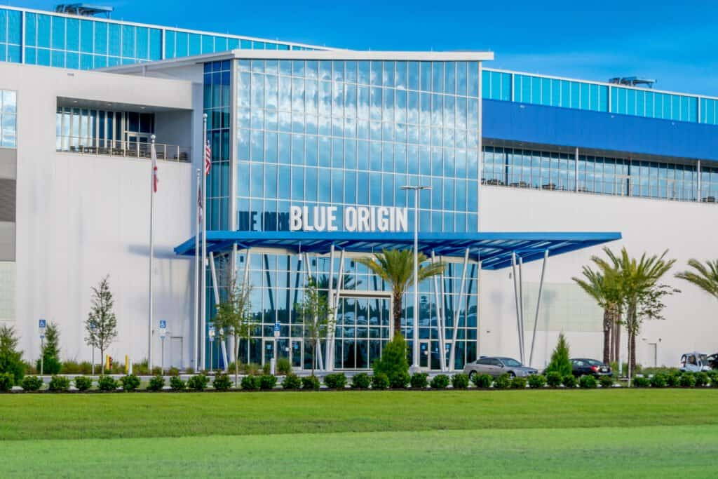 Exterior shot of Blue Origin