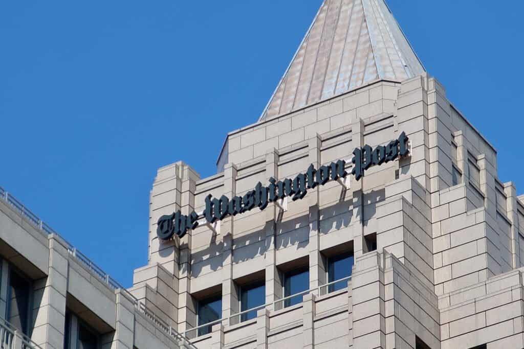 Exterior of The Washington Post